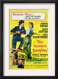 The Farmer's Daughter, Joseph Cotton, Loretta Young, Charles Bickford, Ethel Barrymore, 1947 Print