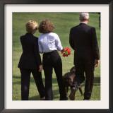 President Clinton, Hillary Rodham Clinton, Daughter Chelsea Framed Photographic Print