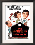 Mr. Blandings Builds His Dream House, Melvyn Douglas, Myrna Loy, Cary Grant, 1948 Poster
