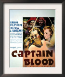 Captain Blood, Errol Flynn, Olivia De Havilland, 1935 Prints