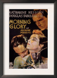 Morning Glory, Adolphe Menjou, Katharine Hepburn, Douglas Fairbanks, Jr., 1933 Posters