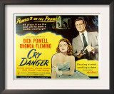 Cry Danger, Rhonda Fleming, Dick Powell, 1951 Posters