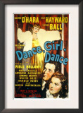 Dance, Girl, Dance, Lucille Ball, Louis Hayward, Maureen O&#39;Hara, 1940 Posters