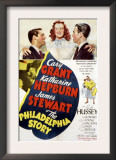 The Philadelphia Story, Cary Grant, Katharine Hepburn, James Stewart, 1940 Art