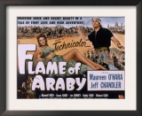 Flame of Araby, Maureen O'Hara, Jeff Chandler, 1951 Prints