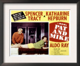 Pat and Mike, Spencer Tracy, Katharine Hepburn, 1952 Art