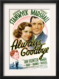 Always Goodbye, Barbara Stanwyck, Herbert Marshall, 1938 Prints