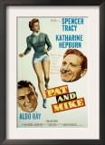 Pat and Mike, Aldo Ray, Katharine Hepburn, Spencer Tracy, 1952 Prints