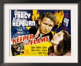 Keeper of the Flame, Spencer Tracy, Katharine Hepburn, 1942 Poster