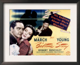 Bedtime Story, Fredric March, Loretta Young, Robert Benchley, 1941 Posters