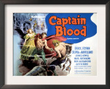 Captain Blood, Olivia De Havilland, Errol Flynn, 1935 Print