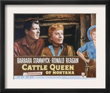 Cattle Queen of Montana, Ronald Reagan, Barbara Stanwyck, 1954 Prints