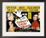 Father&#39;s Little Dividend, Joan Bennett, Spencer Tracy, Elizabeth Taylor, Don Taylor, 1951 Posters
