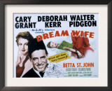 Dream Wife, Deborah Kerr, Cary Grant, Betta St.John, 1953 Art