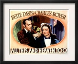All This and Heaven Too, Charles Boyer, Bette Davis, 1940 Poster