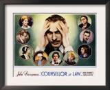 Counsellor at Law, John Barrymore, Malka Kornstein, Onslow Stevens, and Doris Kenyon, 1933 Print