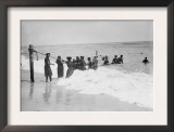 Asbury Park, African Americans Swimming at Asbury Park Beach, New Jersey, July 19, 1908 Prints