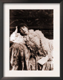 Sarah Bernhardt, French Actress, Reclining on a Divan in an 1880's Portrait Posters