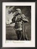 Sarah Bernhardt, French Actress, in Role of Shakespeare's Hamlet. 1887 Prints
