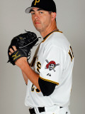 Pittsburgh Pirates Photo Day, BRADENTON, FL - FEBRUARY 20: Jeff Karstens Photographic Print by J. Meric