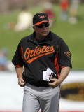 Baltimore Orioles v Detroit Tigers, LAKELAND, FL - MARCH 04: Buck Showalter Photographic Print by Leon Halip