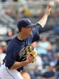 Los Angeles Angels of Anaheim v San Diego Padres, PEORIA, AZ - MARCH 15: Wade LeBlanc Photographic Print by Christian Petersen