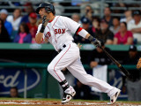 New York Yankees v Boston Red Sox, FORT MYERS, FL - MARCH 14: Dustin Pedroia Reproduction photographique par J. Meric