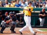 Minnesota Twins v Pittsburgh Pirates, BRADENTON, FL - MARCH 02: Lyle Overbay and Steve Holm Photographic Print by J. Meric