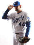 Kansas City Royals Photo Day, SURPRISE, AZ - FEBRUARY 23: Luke Hochevar Photographic Print by Jonathan Ferrey