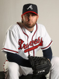 Atlanta Braves Photo Day, LAKE BUENA VISTA, FL - FEBRUARY 21: Peter Moylan Photographic Print by Mike Ehrmann