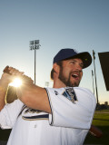 San Diego Padres Photo Day, PEORIA, AZ - FEBRUARY 23: Heath Bell Photographic Print by Rob Tringali