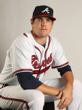Atlanta Braves Photo Day, LAKE BUENA VISTA, FL - FEBRUARY 21: Braeden Schlehuber Photographic Print by Mike Ehrmann