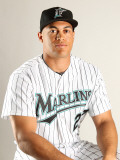 Florida Marlins Photo Day, JUPITER, FL - FEBRUARY 23: Mike Staton Photographic Print by Mike Ehrmann