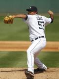 Houston Astros v Detroit Tigers, LAKELAND, FL - MARCH 02: Joaquin Benoit Photographic Print by Leon Halip