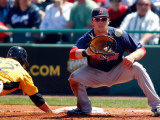 Boston Red Sox v Pittsburgh Pirates, BRADENTON, FL - MARCH 13: Lars Anderson and Brad Lincoln Photographic Print by J. Meric