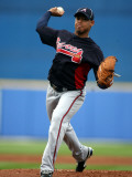 Atlanta Braves v New York Mets, PORT ST. LUCIE, FL - FEBRUARY 26: Jair Jurrjens Photographic Print by Marc Serota