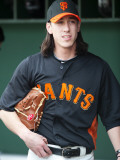 Arizona Diamondbacks v San Francisco Giants, SCOTTSDALE, AZ - FEBRUARY 25: Tim Lincecum Photographic Print by Rob Tringali