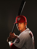 Washington Nationals Photo Day, VIERA, FL - FEBRUARY 25: Ian Desmond Photographic Print by Al Bello