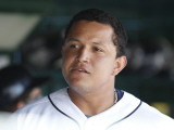 Houston Astros v Detroit Tigers, LAKELAND, FL - MARCH 02: Miguel Cabrera Photographic Print by Leon Halip
