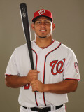 Washington Nationals Photo Day, VIERA, FL - FEBRUARY 25: Wilson Ramos Fotografie-Druck von Al Bello