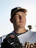 Oakland Athletics Photo Day, PHOENIX, AZ - FEBRUARY 24: Trevor Cahill Photographic Print by Ezra Shaw