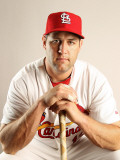 St. Louis Cardinals Photo Day, JUPITER, FL - FEBRUARY 24: Lance Berkman Photographic Print by Mike Ehrmann
