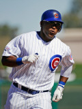 Kansas City Royals v Chicago Cubs, MESA, AZ - MARCH 09: Marlon Byrd Photographic Print by Kevork Djansezian