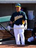 Oakland Athletics v Chicago Cubs, PHOENIX, AZ - MARCH 15: Hideki Matsui Photographic Print by Kevork Djansezian