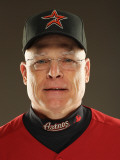 Houston Astros Photo Day, KISSIMMEE, FL - FEBRUARY 24: Brad Mills Photographic Print by Al Bello