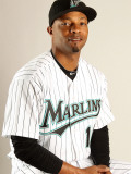Florida Marlins Photo Day, JUPITER, FL - FEBRUARY 23: Dewayne Wise Photographic Print by Mike Ehrmann