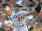 Los Angeles Dodgers v San Francisco Giants, SCOTTSDALE, AZ - FEBRUARY 26: Carlos Monasterios Photographic Print by Rob Tringali