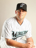 Florida Marlins Photo Day, JUPITER, FL - FEBRUARY 23: John Mallee Photographic Print by Mike Ehrmann