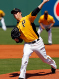 Baltimore Orioles v Pittsburgh Pirates, BRADENTON, FL - FEBRUARY 28: Paul Maholm Photographic Print by J. Meric