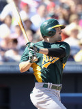 Oakland Athletics v Seattle Mariners, PEORIA, AZ - MARCH 12: David DeJesus Photographic Print by Christian Petersen